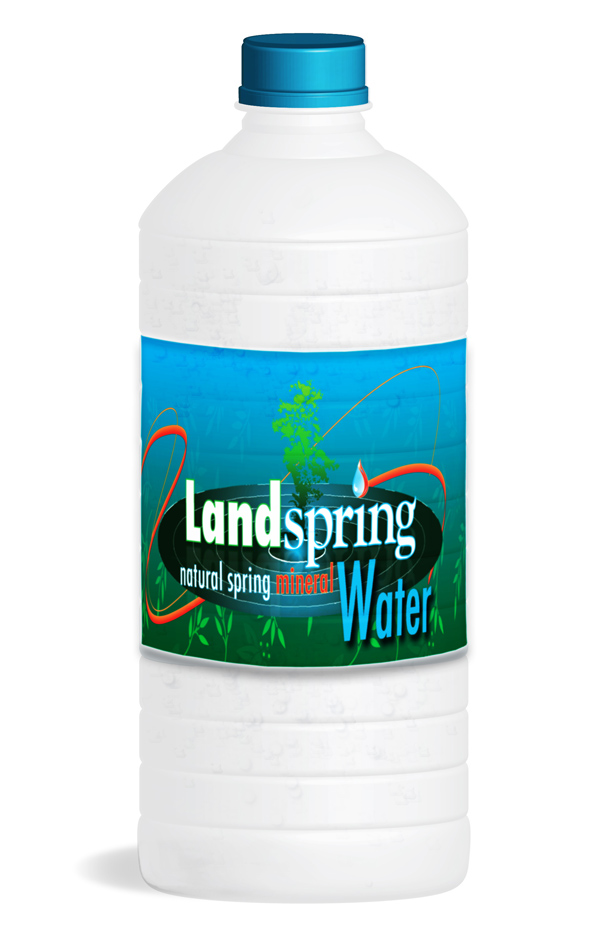 LandSpring Label on Bottle Rendering