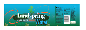LandSpring Water Label