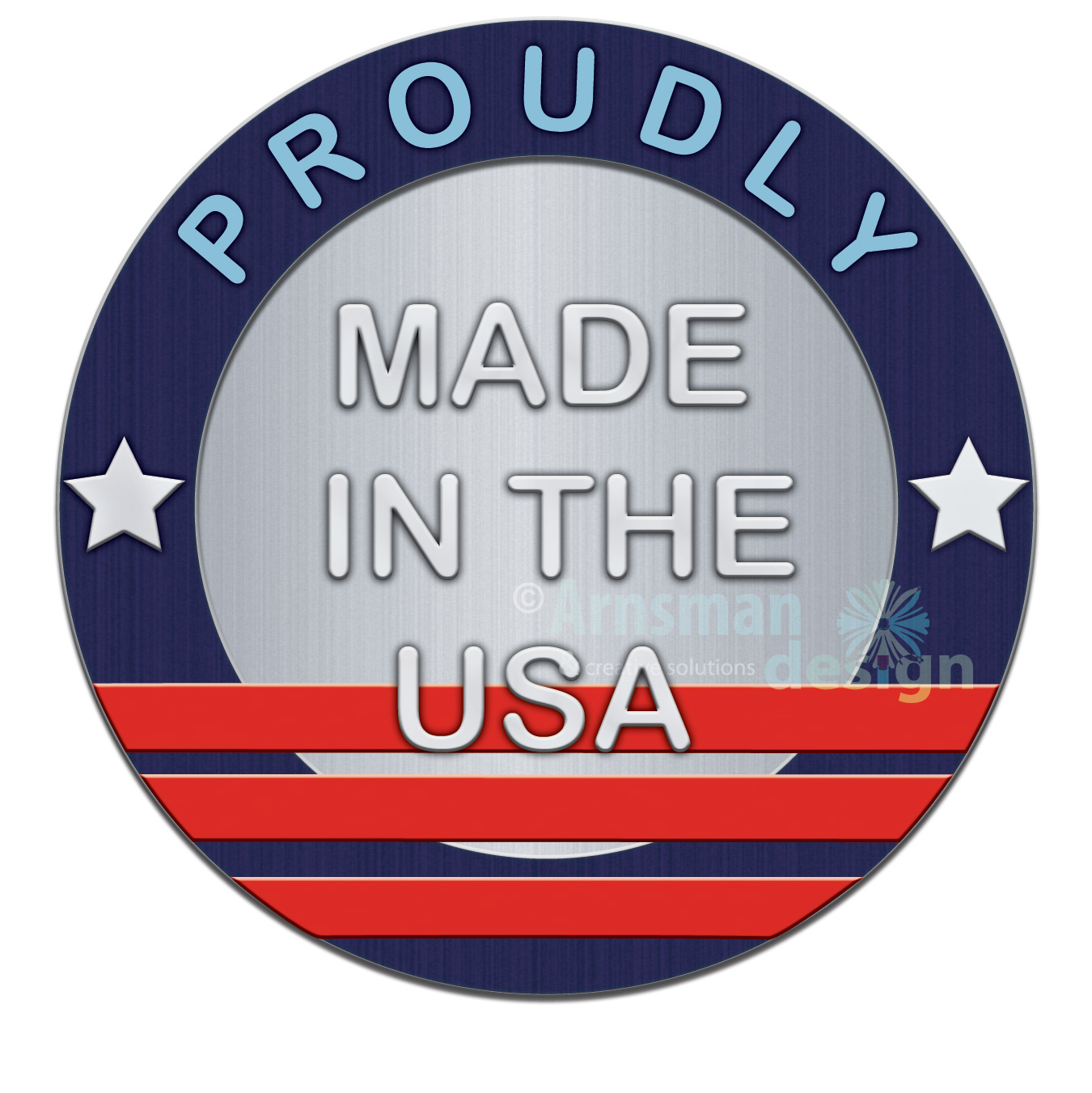 Made in the USA Badge Icon by Connie Arnsman