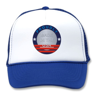 Show Your Support Hat Proudly Made in the USA Logo