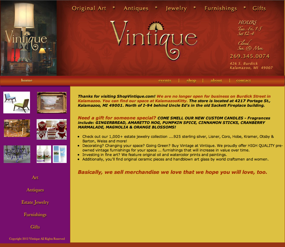 Vintique website
